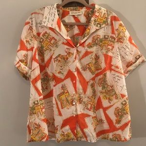 Short sleeve button up by Jones New York size 2x